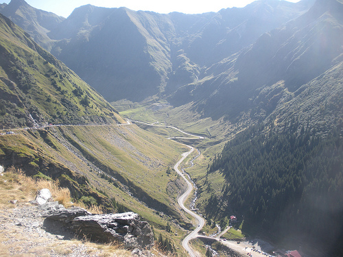 Descending the Transfagarasan Highway, Romania