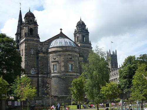 St. Cuthbert's Church with St. John's in the background