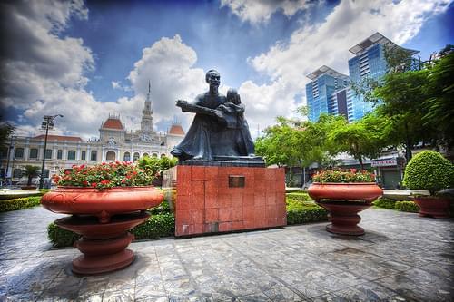 'Hello Ho Chi Minh', Vietnam, Saigon, Ho Chi Minh Square