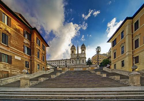 Everybody's gone @ the Spanish steps, Rome, Italy