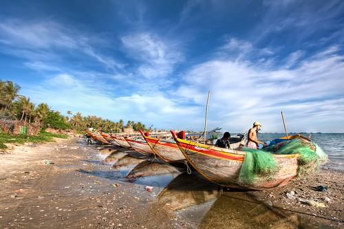 'Daily Catch', Vietnam, Mui Ne, Fisherman