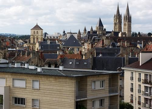 Old and New Buildings in Caen