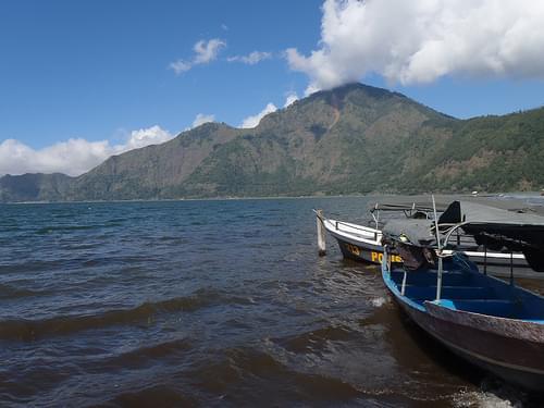 Lake Batur. Mount Abang.