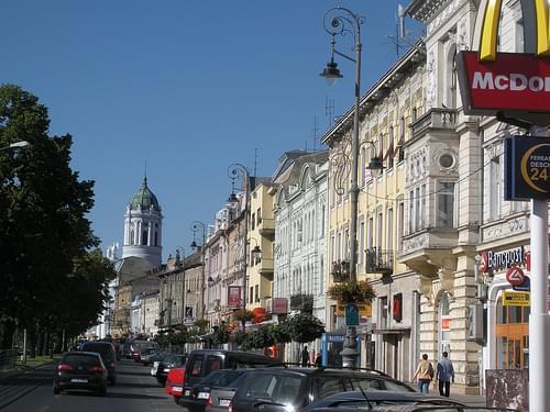 Main street, Arad, Romania