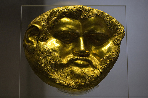 National Archaeological Museum Sofia - Golden Funeral Mask from the Svetitsata Tumulus (King Teres?)