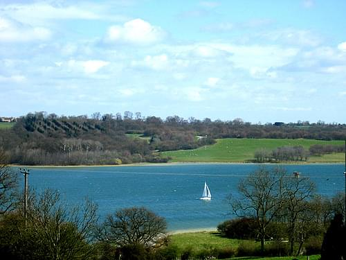 Sailing boat on Rutland Water