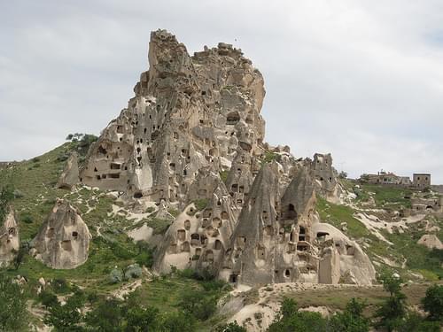 Uçhisar - Vue sur la forteresse