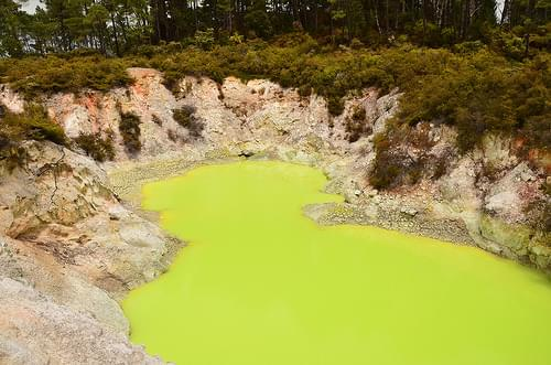 Devil's Bath, Wai-o-Tapu, North Island, New Zealand.