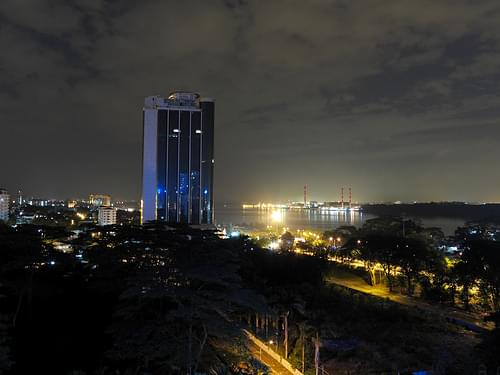 Straits of Johor at night