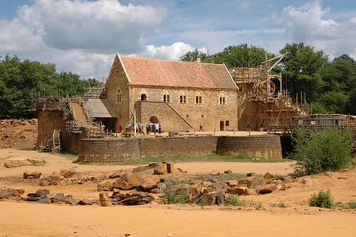 Burgbaustelle Guédelon, Treigny, Frankreich