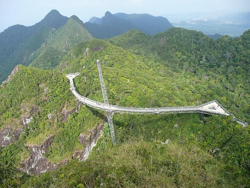 Pulau Langkawi - skybridge on top of Gunung Mat Cincang