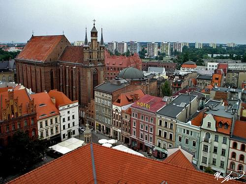 View of Toruń's Old City from the City Hall Tower