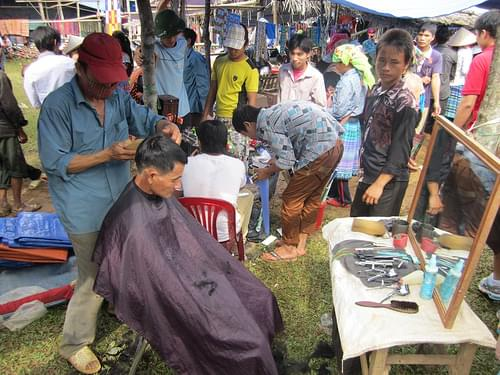 Haircut, Coc Ly Market near Sapa, Vietnam