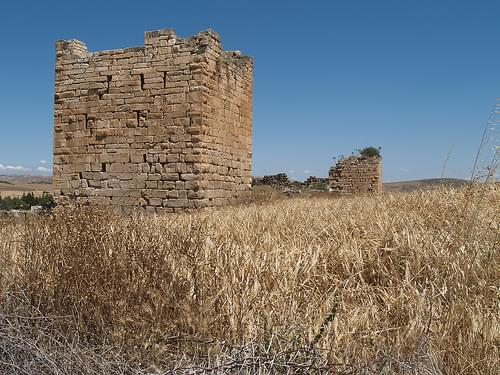 Fortress Tower at Ain Tounga, Tunisia.