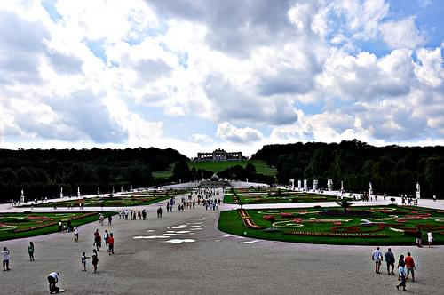 A Summer Day View of the Great Parterre, From Schonbrunn Palace, Vienna