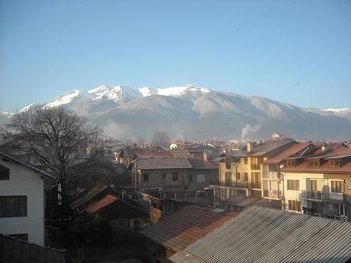 Η θέα από το παράθυρο του ξενοδοχείου