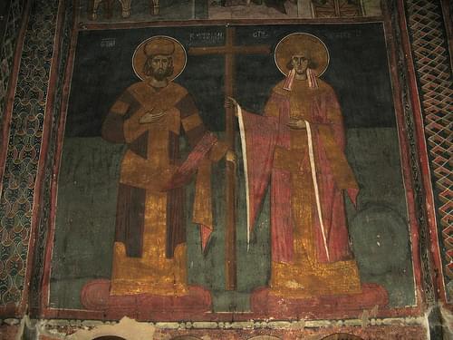 Dečani - car Konstantin i carica Jelena