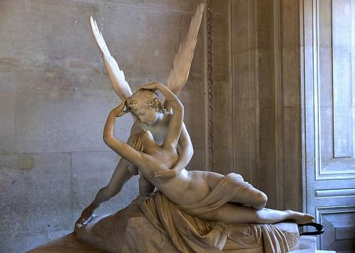 PSIQUE REANIMADA POR EL AMOR / PSIQUE REVIVED BY THE LOVE. Antonio Canova. Musée du Louvre.