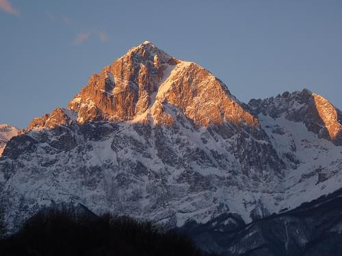 Morning sun on the Gran Sasso