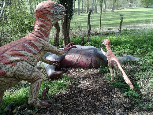 Deinonychus at the Dinosaur Park near Norwich