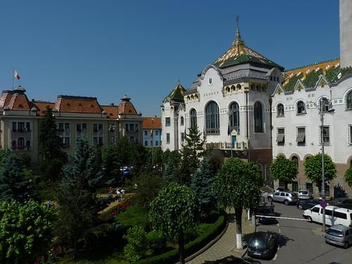 Targu Mures - palatul culturii, view to county hall