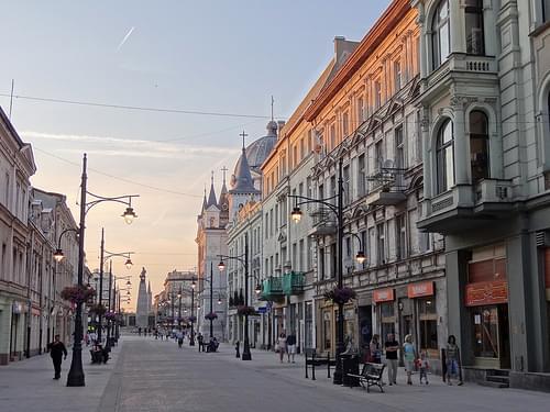 Piotrkowska Street at Dusk - Lodz - Poland - 02