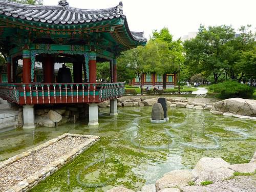 Gyeongsang-gamyeong Park fountain