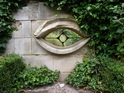 An eye in the garden wall