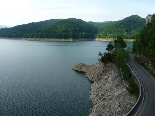 Transfagarasan Pass - lake Vidraru dam (7)