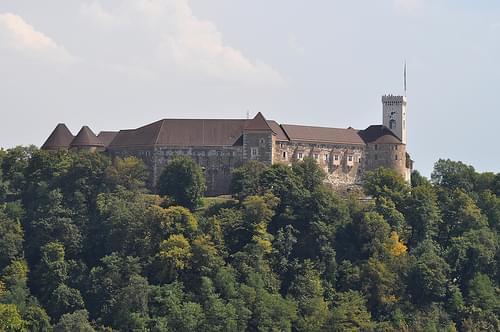 Ljubljana castle from Nebotičnik