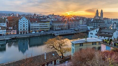 Zurich sunrise