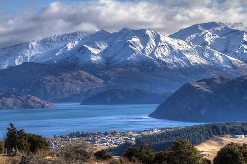 Lake Wanaka, Mount Aspiring National Park from the top of Mount Iron