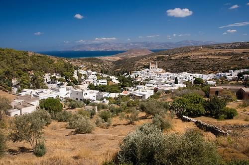 Lefkes, a picturesque inland mountain village (Paros Island)