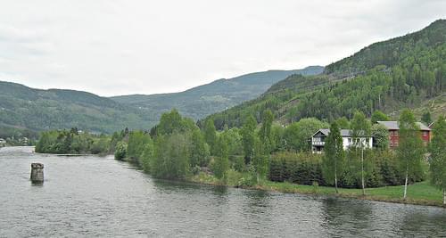 Gol, Norway / view from the bridge over the Hallingdalselva