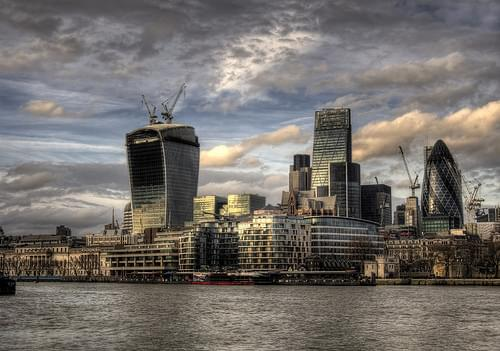 The London City skyline