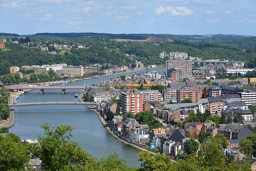 La Meuse et ses 2 ponts