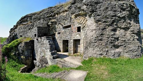 Les casernements du fort de Douaumont