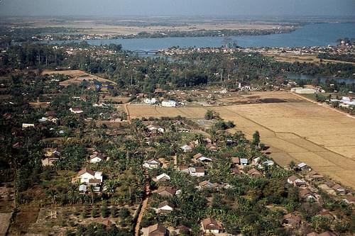 Tân Giám Hamlet - Cù Lao Phố - Biên Hòa Aerial 1966/68 - Photo by John Rellis