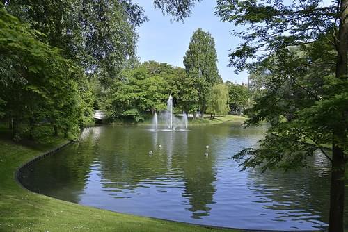 L'étang du parc Léopold