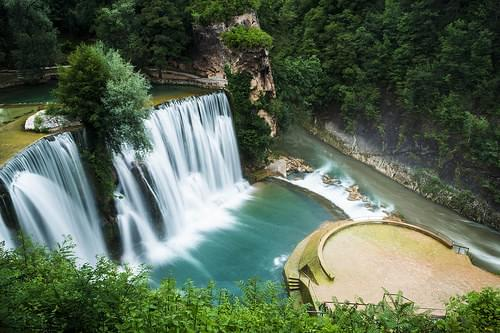 Jajce V Waterfall Bosnia
