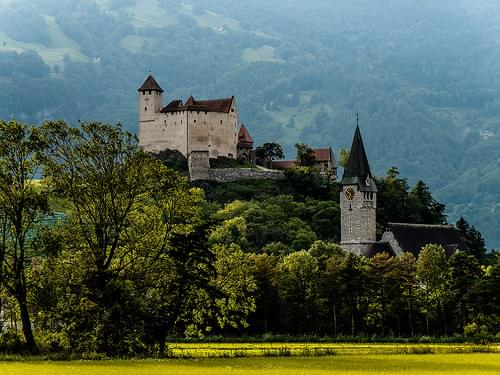 ..driving through Principality of Liechtenstein