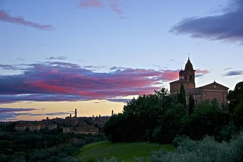 Sunset on Siena