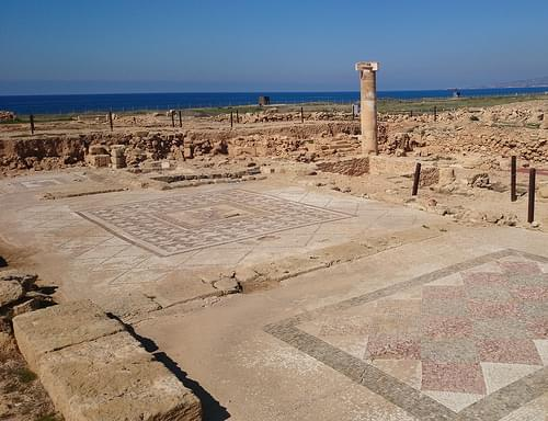 Ancient mosaic in Kato Pafos, Cyprus