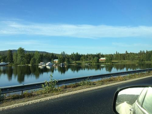 on our way to the treehotel in harads (arvidsjaur, norrbotten, sweden)