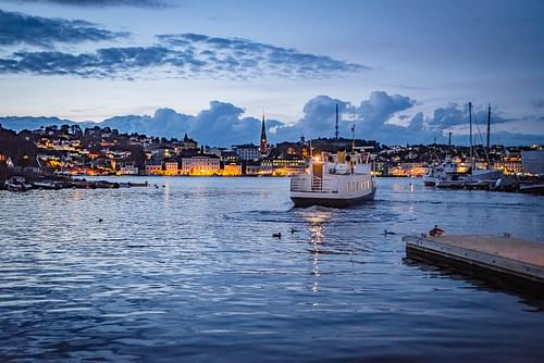 Arendal after sunset