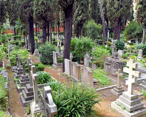 View of Non-Catholic Cemetery