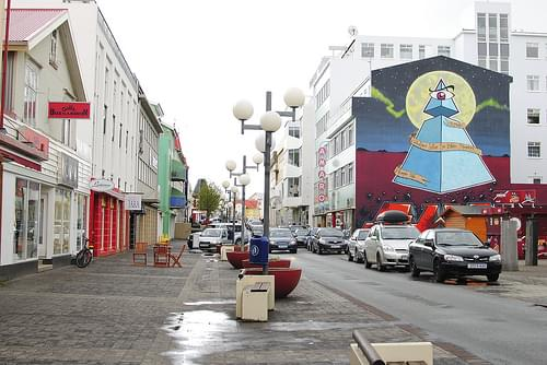Bustling down-town Akureyri