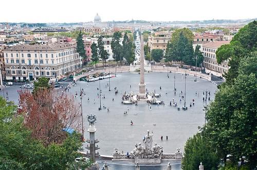Piazza del Popolo, Rome, Sept. 2011