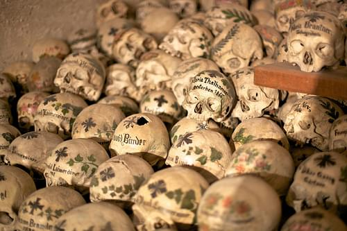 Skulls in the Hallstatt Bone Chapel