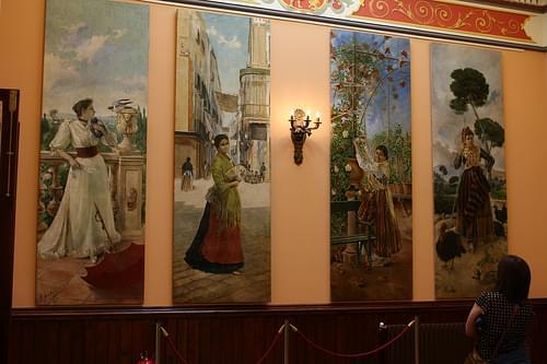 Fencing room paintings